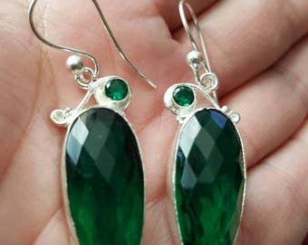 Chrome Diopside Earrings!