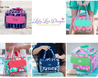 Monogrammed Cooler Tote- fast shipping!