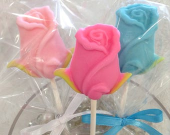 30Pcs lollipop flower chocolate favor
