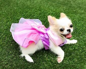 Dog dress, dog clothing, Pink Princess