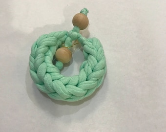 Crochet Fabric Bracelet