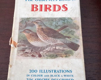 The Observer Book of Birds, Collectible Book, Vintage book, Reference book, twitchers reference book.