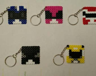 Minecraft Power Rangers Skins Party Favors - Set of 5