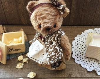 SOLD! Teddy Bear Plush Mohair Handmade Stuffed Toy Animal