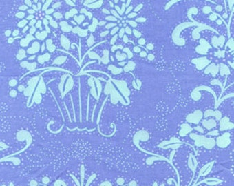 END OF BOLT Sale Dena Designs Leanika Classic Blue - Classic Preppy Fabric by the Yard - Clearance Fabric - Spring Summer Fabric - 33 Inches
