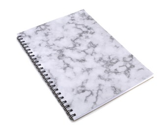 Marble Look A5 Spiral Notebook