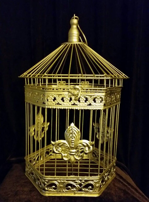 Gold beautiful wedding birdcage card holder by