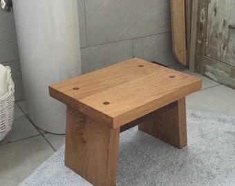 Step stool - oak/walnut