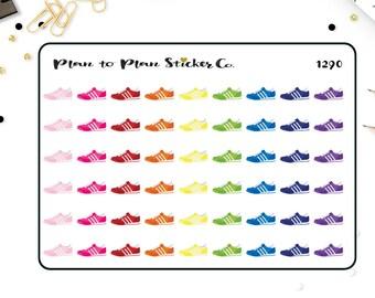 1290~~54 Running Tennis Shoe Planner Stickers.