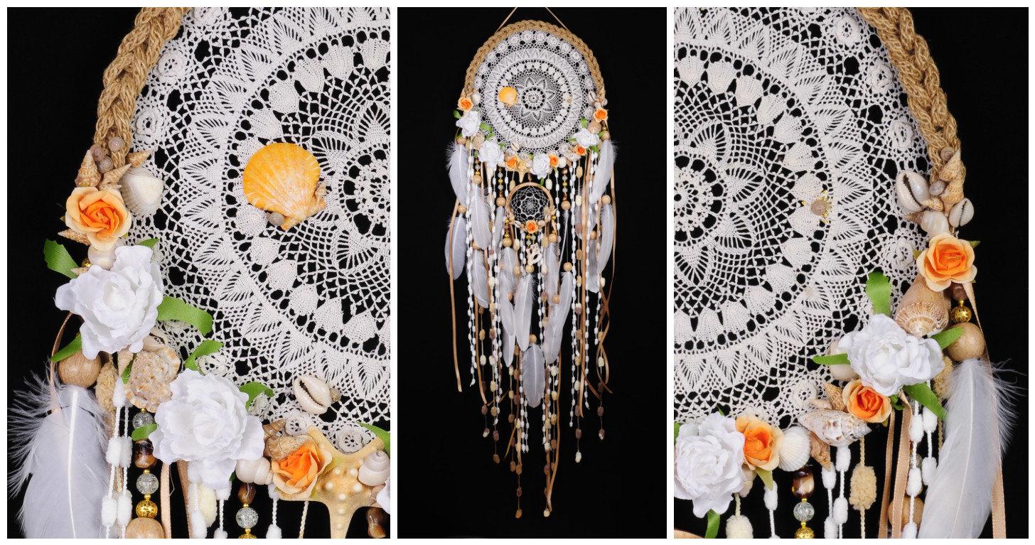 White dreamcatcher wedding mermaid rescent dream catcher large white dreamcatcher wedding mermaid rescent dream catcher large dreamcatcher beigedreamcatchers boho dreamcatcher wall decor white wedding amipublicfo Gallery