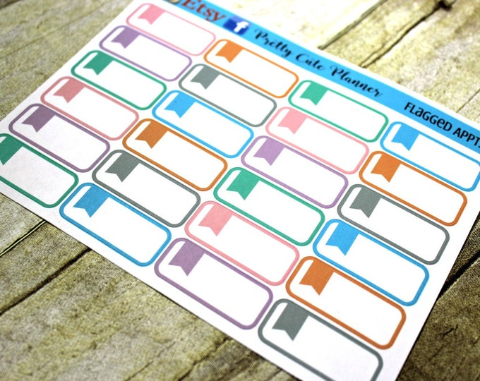 Planner Stickers - Appointment Stickers - Pastel Reminder Stickers - Planner Stickers - Planner Decor - ECLP Stickers - Happy Planner -Flag