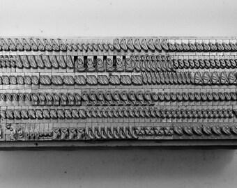 12 point GARAMOND ITALIC LOWERCASE  Letterpress Metal Printing Type