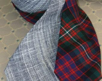 Scottish tartan or linen ties (2 available) - MacDonell of Glengarry, Lochcarron Linen