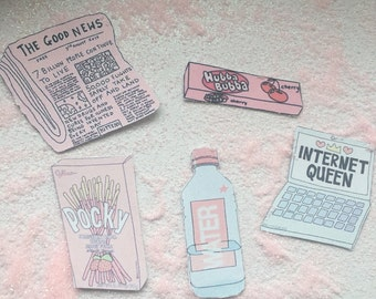 pastel sticker pack