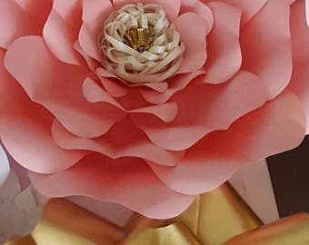 Paper Flower Template and Base  PDF file #17