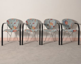 80's italian dining chairs,set of 4