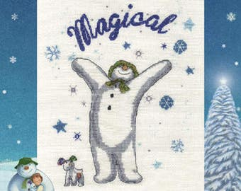 A Magical Christmas, Counted Cross Stitch Kit from DMC's The Snowman and the Snowdog collection BL1103/64