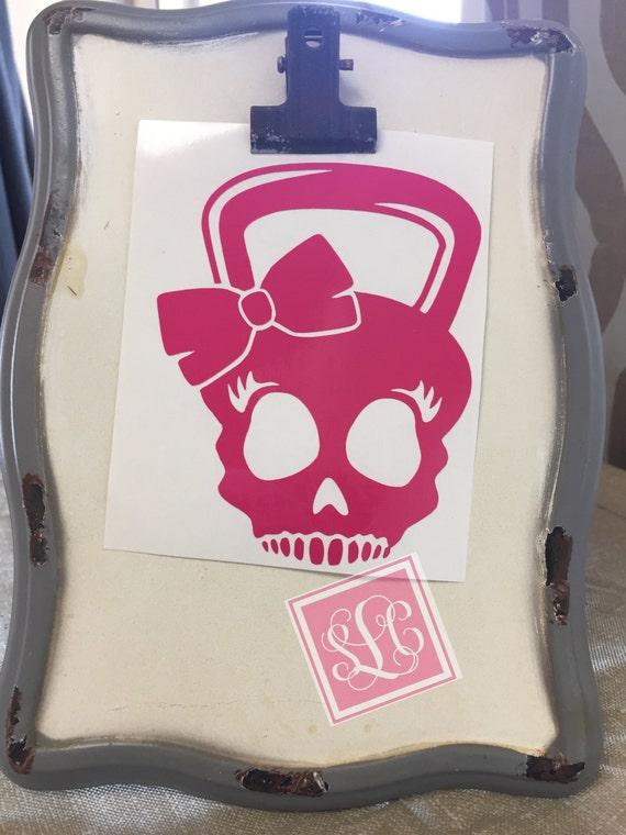 Kettleball skull decal