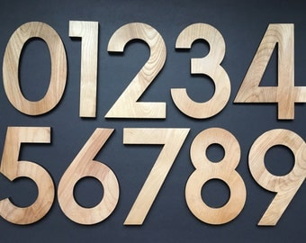 Solid Wood Number | Wedding | Home Decor | 5"