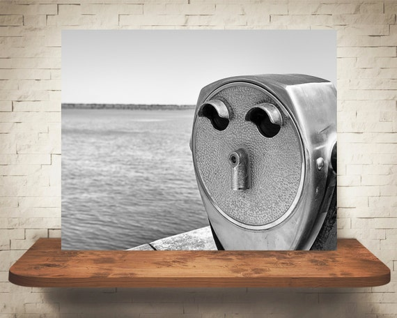 Scenic Viewer Photograph - Black White Photography - Fine Art Print - Wall Decor - Tower Viewer Pictures - Vintage Viewer - Gifts
