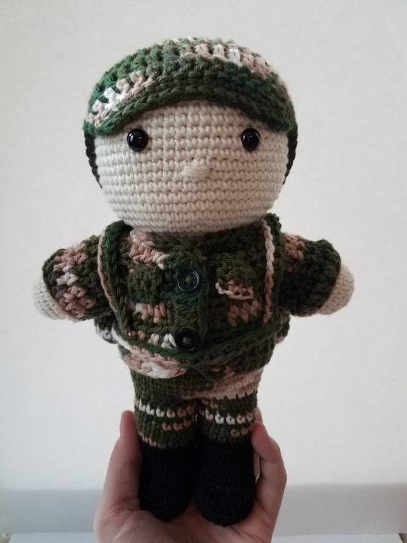 Crochet Army Guy Tyler Army Doll Crochet Soldier Crochet