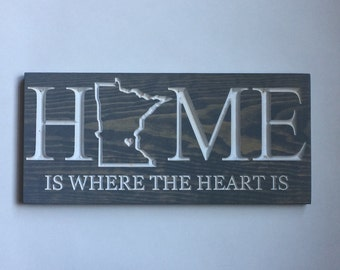 Wall Signs For Home state home sign | etsy