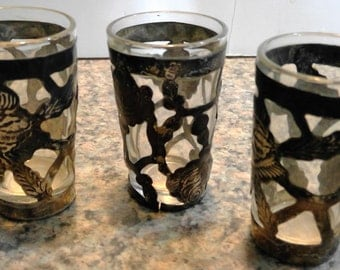 Vintage Sterling silver Shot glasses set of 3