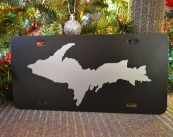 Upper Peninsula Shaped License Plate Yooper State