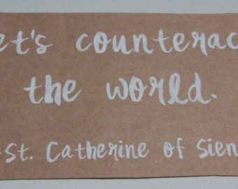 Home Decor- St. Catherine of Siena: Counteract