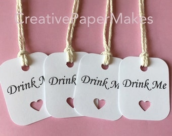 Drink Me favour tags. Weddings/ parties/ baby showers