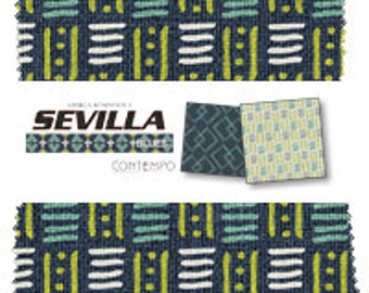 "SALE Sevilla Blues by Benartex - (42) 5"" x 5"" Charm Pack"
