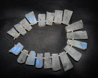 100% Natural Rainbow Moonstone Stick Shape Smooth Beads 10x17 To 11x32 mm Approx Good Quality