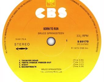 Bruce Springsteen - Born To Run record label stickers