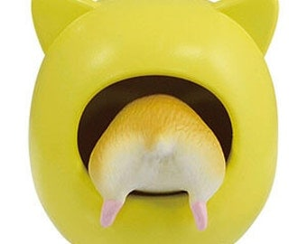 FREE SHIPPING WORLDWIDE. Hamster Figurine with Yellow House