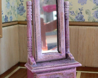Reduced code FOREVER mirror for 1: 12, miniature, mirror foot Dolls House Doll House