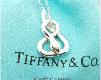 Authentic Tiffany & Co. Elsa Peretti Snake Pendant