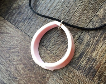 Oval Pink Conch Shell Pendant