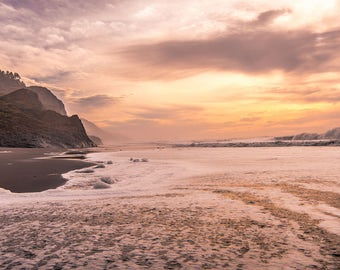 Sunset Over Northern California Coastal Cliffs; Fine Art Photo Print