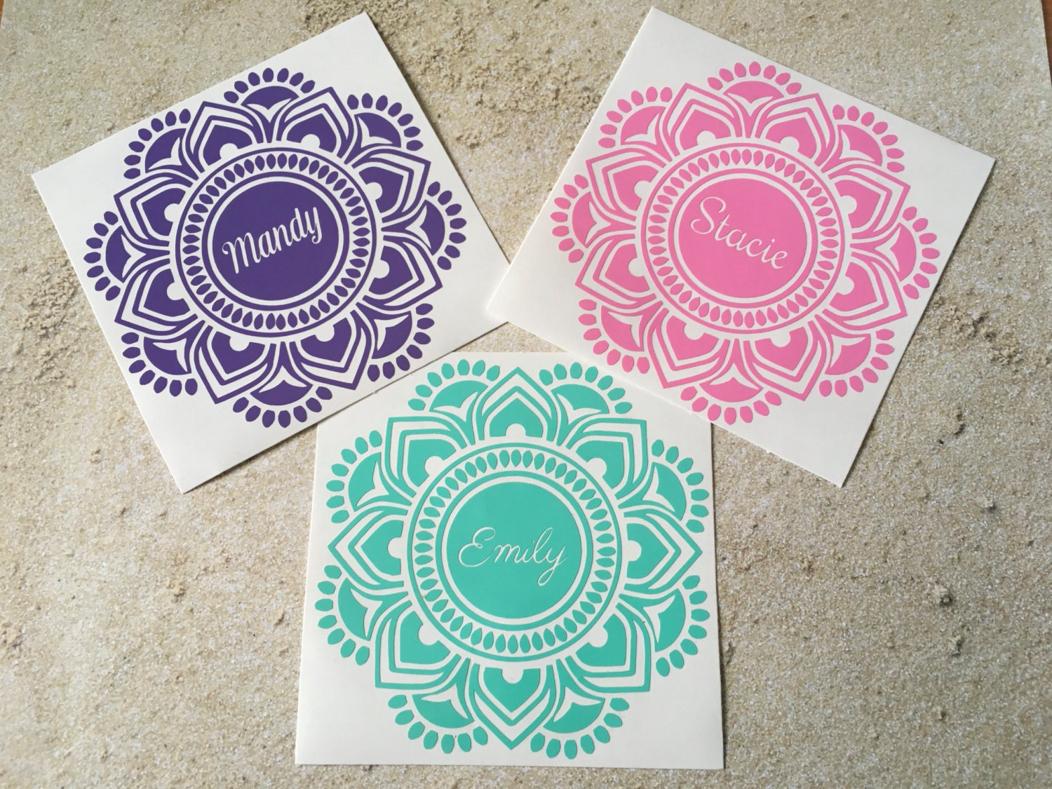 Mandala Decal Mandala Sticker Mandala Name Decal