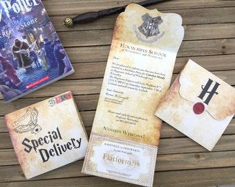 Harry Potter Invite - Harry Potter Party Invite - Digital Party Invitation