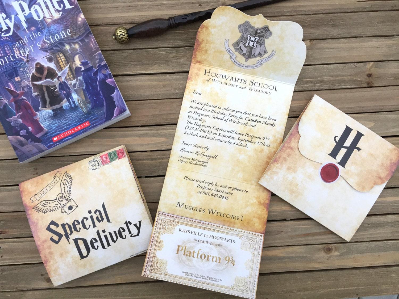 Digital Party Invitation - Customizable - Harry Potter Themed ...