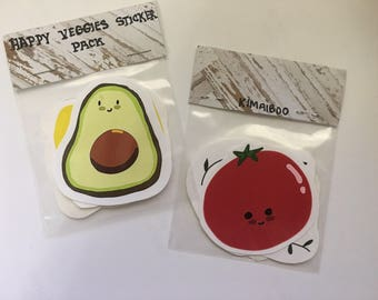 Happy Veggies Sticker pack