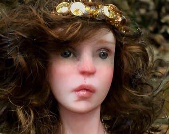Steampunk OOAK Art Doll by Bibs Lovelypam hand sculpted fairy