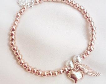 Rose Gold Vermeil Beaded Bracelet