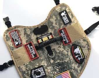Service Dog Vest, Army Dog Vest, Military Service Dog, Police Dog, K9 Service Dog, Custom Service Dog Vest, Read Description