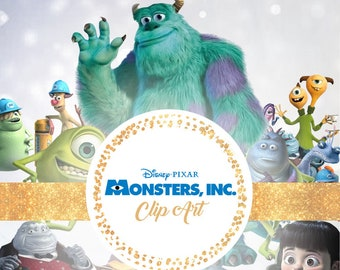 Monsters Inc Clipart - Digital 300 DPI PNG Images, Photos, Scrapbook, Digital, Cliparts - Instant Download