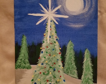Small 4x6 canvas painting