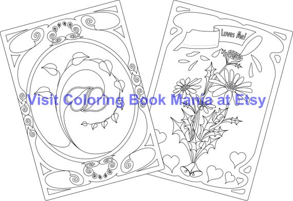 """Celebrate LOVE with Notecards! """"Loves me, loves me not"""" Daisy x2 and Entwined Hearts x2 - 4 Cards/envelopes"""