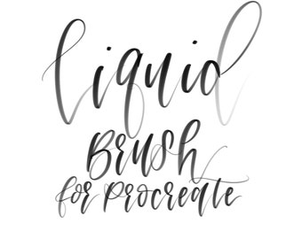 Liquid Inky Brush for Procreate | iPad Pro