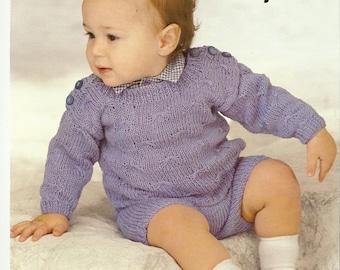 Baby Sweater and Shorts pdf Knitting Pattern